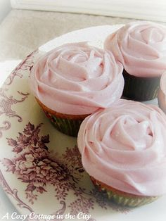 Rosewater Cupcakes - Would be good garnished with a raspberry