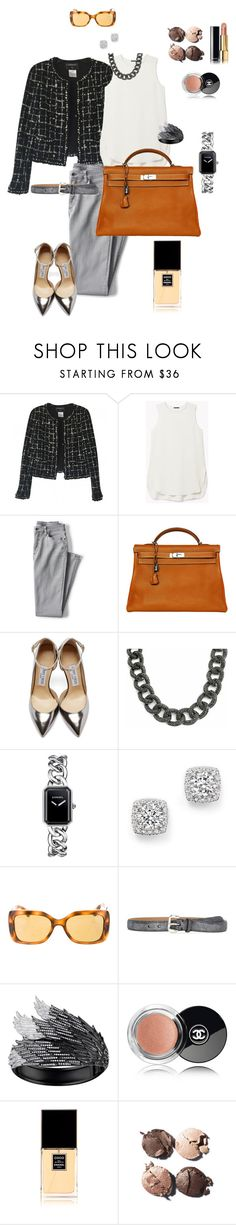 """if ..."" by ulusia-1 ❤ liked on Polyvore featuring Chanel, Theory, Lands' End, Hermès, Jimmy Choo, Bling Jewelry, Bloomingdale's, Fausto Colato and AS29"