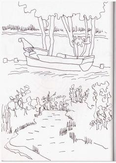 Wörlitzer Gartenreiche (c) Zeichnung von Susanne Haun