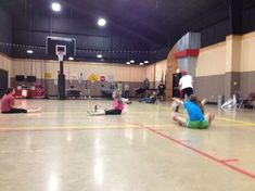 Scatterball: Our group plays this from time to time but with the added rule that if a person sitting tags someone who is standing, the standing person must sit (sitting person stays sitting). We play until there is one left.