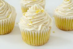 These Vegan Lemon Cupcakes with Lemon Buttercream are bursting with lemon flavour. These cupcakes are perfect for any spring or summer party. These Vegan Lemon Cupcakes with Lemon Buttercream are bursting with lemon flavour. Vegan Treats, Vegan Foods, Vegan Desserts, Vegan Recipes, Plated Desserts, Vegan Cupcakes, Vegan Cake, Party Cupcakes, Vegan Lemon Cake