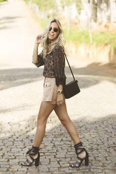 Nati Vozza do Blog de Moda Glam4You com look lindo animal print!!