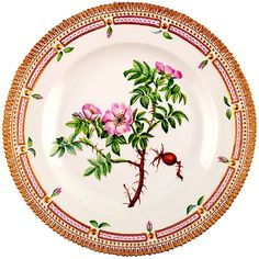 Royal Copenhagen Flora Danica Dinner Plate | From a unique collection of antique and modern dinner plates at https://www.1stdibs.com/furniture/dining-entertaining/dinner-plates/