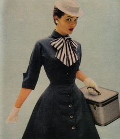 1950's Fashion--wish I could stock my wardrobe from this era!!  yes indeed, including hat an gloves!
