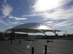 Stadium Shade Structure - Blue Wave