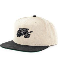 Nike SB S Hemp Snapback Hat  zumiez Black And White Nikes a79608a78b9f