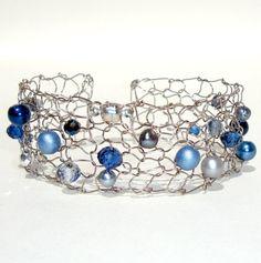 Nautical Navy Bracelet by lapisbeach
