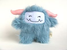 Puffy the blue monster, $44  (my next bedtime friend ^_^)  Because every one needs a monster!