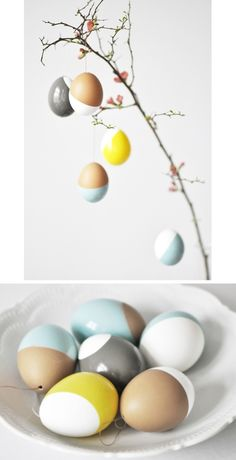 Uova di Pasqua dipinte // Painted Easter eggs by nahili via it.dawanda.com  #homedecor