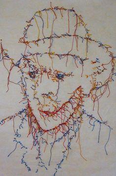 Guacolda. December 2014, Textile Art, Feminism, Needlework, Stitches, Applique, Weaving, Portraits, Textiles