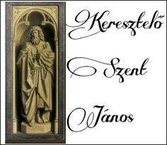 Genti oltár: Keresztelő Szent János szobor-képe a bezárt szárnyakon