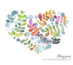 Fête mères théière thé oiseaux floral décoratif mignon blanc Carte de vœux