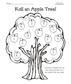 Basket of Apples Farm Stand Coloring Sheet, free printable