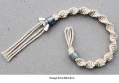 Macramé, washers and a wingnut bracelet · Jewelry Making | CraftGossip.com