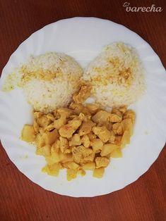 Kuracie prsia na ananáse a karí - recept | Varecha.sk Grains, Rice, Food, Essen, Meals, Seeds, Yemek, Laughter, Jim Rice