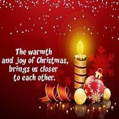 The warmth and joy of Christmas