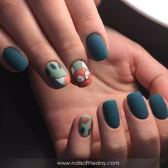 Autumn Nails, Fall Nail Art, Spring Nails, Trendy Nail Art, Stylish Nails, Fox Nails, Beauty Nail, Nail Design Spring, Animal Nail Art