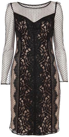 Black Lilianna Pencil Dress