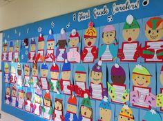 3rd grade carolers bulletin board