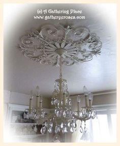 beautiful shaby chic chandeliers | SHABBY COTTAGE CHIC CHANDELIER FINALEEEE~
