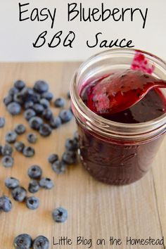 Easy Blueberry BBQ Sauce: This recipe looks like the perfect addition to any meat for a sugar sweet twist on dinner!