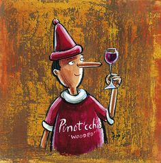 'Wine Pinot'cchio' by Frans Groenewald Wine Pics, Wine Photography, Pretty Pictures, Pretty Pics, South African Artists, Got Wood, Africa Art, Wine Packaging, Wine Art