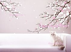 Hey, I found this really awesome Etsy listing at http://www.etsy.com/listing/121789004/cherry-blossoms-wall-decal-wall-sticker