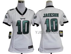 NEW NIKE EAGLES 10 JACKSON WHITE WOMEN GAME JERSEYS, Only$36.00 , Free Shipping! http://www.yjersey.com/new-nike-eagles-10-jackson-white-women-game-jerseys.html