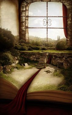 A magical adventure is set to begin. Can you imagine having a room like this? Fantasy World, Fantasy Art, Fantasy Books, The Magic Faraway Tree, World Of Books, Book Nooks, Book Lovers, Urban Art, The Book