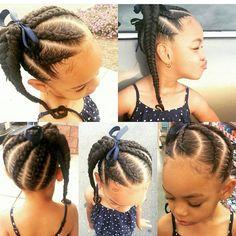 a fishtail braid. Sooo adorable! #braids #twists #cornrows #boxbraidscolors…