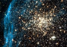 NGC 1850 is an unusual double cluster that lies in the bar of the Large Magellanic Cloud, a satellite galaxy of our own Milky Way