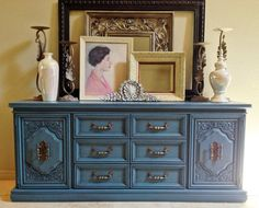 Vintage Dresser/Buffet/Media Console in by BornAgainHomeAccents