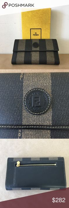 NEW in BOX NWT FENDI Brown Leather Wallet Set NEW! NEW in BOX NWT FENDI Brown Leather Wallet Set NEW! Inventory # 5991-52 Everything we sell is 100% guaranteed authentic! We are Meta Exchange, a resale store in Baton Rouge, LA! Sorry, no trades. REASONABLE offers will be considered. We ship same/next day. Thanks! Fendi Bags Wallets