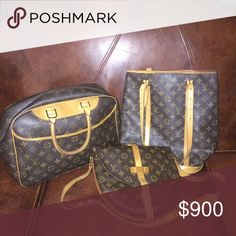 Today's bundle‼️ 🅿️🅿️ $925 posh $1250 I have separate listing of each. Or save when buy them all. All items are guaranteed authentic. So buy with confidence😄👍 ❌🚫 no trades❌🚫  Deauville, chantilly GM, bucket Noe GM. Prices FIRM!! Serious buyer only. Louis Vuitton Bags Shoulder Bags