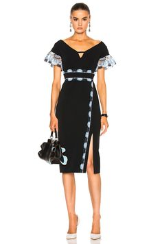 Image 1 of Peter Pilotto Cady Lace Band Dress in Black