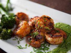 Skillet Shrimp br/with Fresh Chive Chimichurri