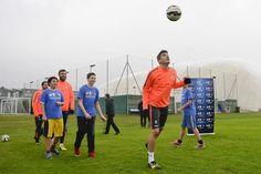 I giocatori della Juventus incontrano alcuni ragazzi per l'iniziativa Junior TIM Cup , il calcio negli oratori