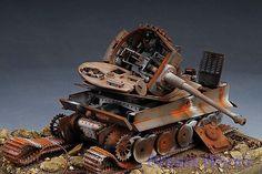 Award Winner built 1/35 Battle damaged Tiger Tank Diorama   eBay