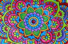 Grandes cuencos de Mandala: Mano construida por agypsyteaparty