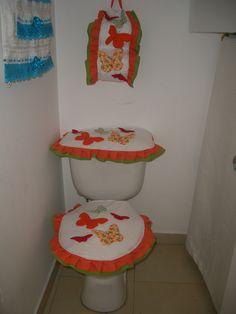 Juego de baño Mariposas Naranja  Orange butterflies