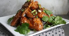 Appetizing main dish - Sticky Asian Chicken Wings