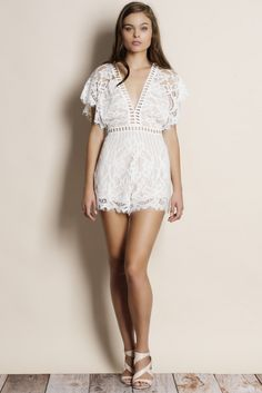 28a3c786ccf Wishful All Over Lace Romper