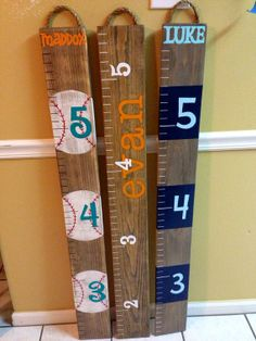 Painted Ruler Growth Chart / Wood Growth Chart / Baby by RouxBeeLu, $50.00