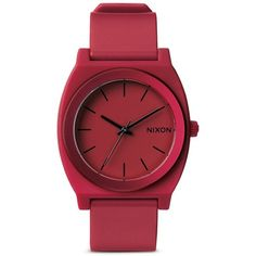 Nixon 'The Time Teller P' watch (285 BRL) ❤ liked on Polyvore featuring jewelry, watches, accessories, red, nixon watches, seashell jewelry, red watches, shell jewelry and sporty watches