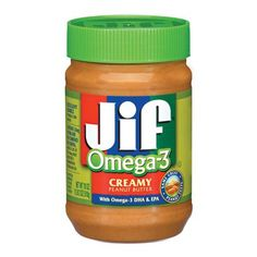 Jif Peanut Butter with Omega 3 18oz Looks like this is the winner so far 100 calories per 2 tbsp. unlike my store brand with 200 calories