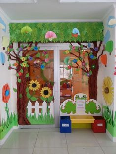 classroom decor Summer Bulletin Board ideas to feed the sunny side of life - Ethinify School Board Decoration, Class Decoration, School Decorations, Diy And Crafts, Crafts For Kids, Paper Crafts, Decoration Creche, Preschool Classroom Decor, School Doors