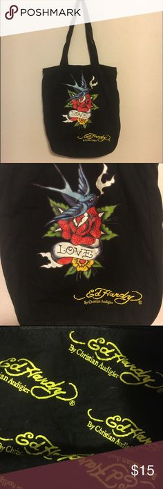Ed hardy bluebird rose small tote / purse Ed hardy small tote. 12x14 inches. In good condition. Ed Hardy Bags Totes