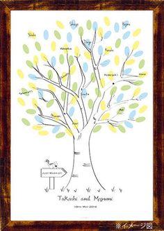 Wedding Tree【Squirrel】Finger Print ウエディングツリー りす その他 結婚式ペーパーアイテムや披露宴のパンフレット形の席次表など。こだわりブライダルのお手伝いトゥルーハートイズプット。