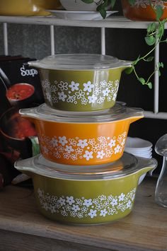Wrong colored casserole | Flickr - by Lizbeth_Reads Unique Spring Blossom Pyrex