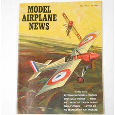VINTAGE MAGAZINE BOOK Model Airplane News July #etsy